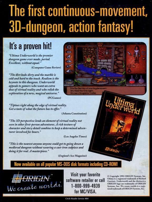 Ultima Underworld ad