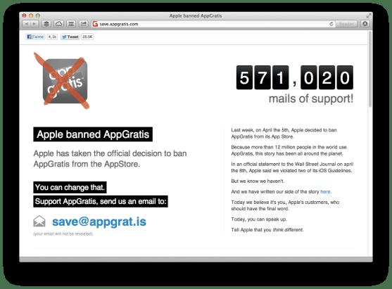 AppGratis petition