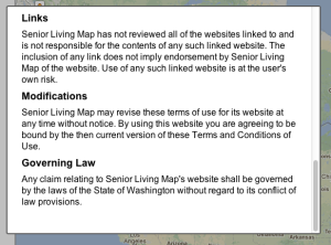 senior living map