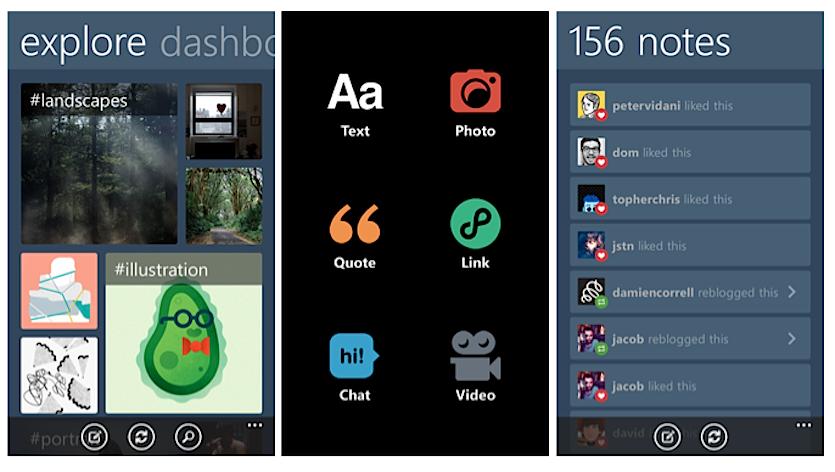 Tumblr Windows Phone 8