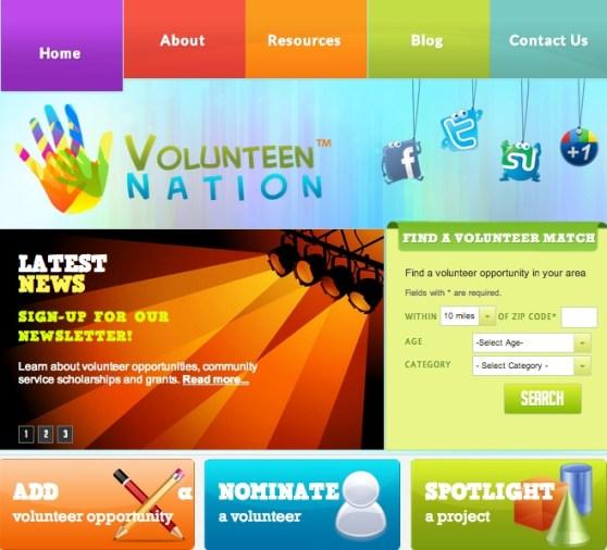 VolunTEEN Nation Site