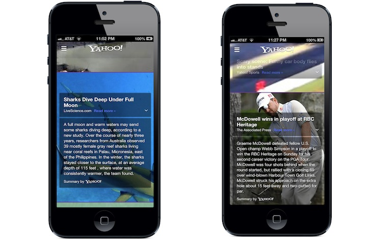 Yahoo Mobile App