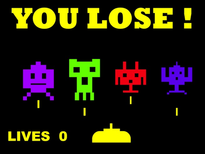 You lose game