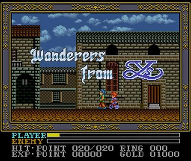 Ys III SNES Title screen