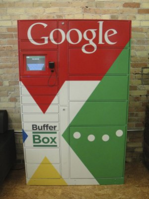 Google bought local startup BufferBox in late 2012