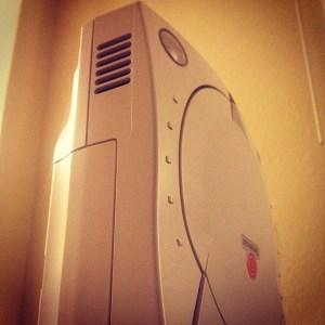 Dreamcast console close-up
