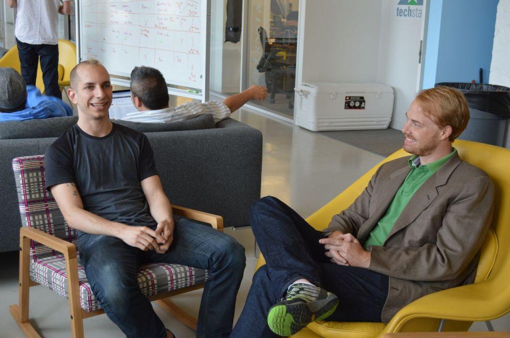 Erik with Head of Technology Eli Albert