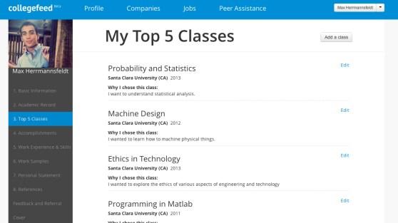 Collegefeed - Top Classes