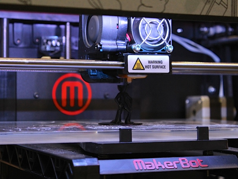 Makerbot Industries has done more than any other company to kick off the home 3D printing market. Its printers are looking more polished and professional than ever: Instead of the plywood look of the early models, this fourth-generation Makerbot has a black powder-coated steel chassis and decorative purple lighting on the inside that give it a futuristic look. The new MakerBot Replicator 2 can print objects in PLA plastic up to 11.2x6x6.1 inches with a resolution of 0.1mm. It costs $2,199.