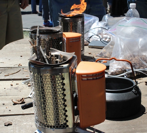 BioLite Campstoves turning sticks into electricity at Maker Faire Bay Area 2013