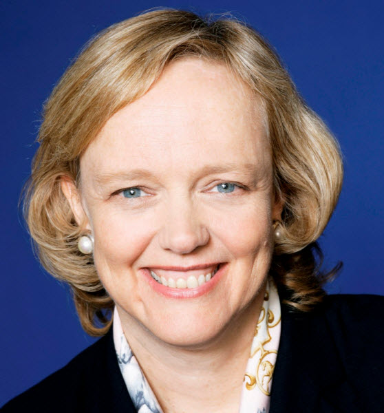 Hewlett-Packard chief executive Meg Whitman