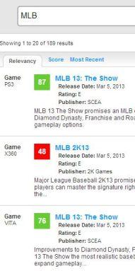 MLB Metacritic