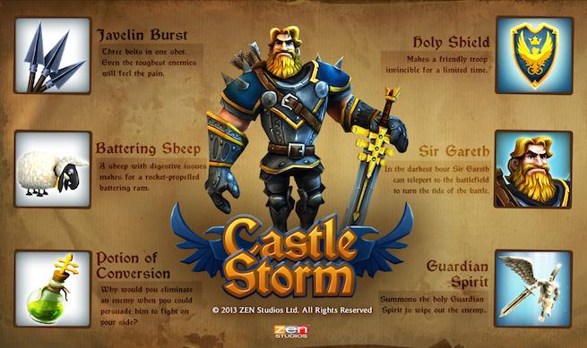 CastleStorm Knight projectiles