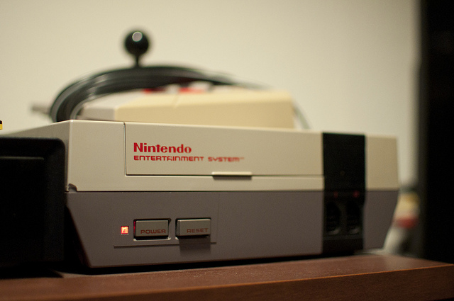 NES console in use