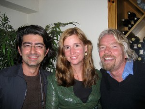 Pierre and Pam Omidyar with Richard Branson