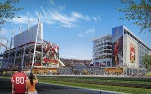 A rendering of the new 49ers stadium in Santa Clara. Via http://www.newsantaclarastadium.com/
