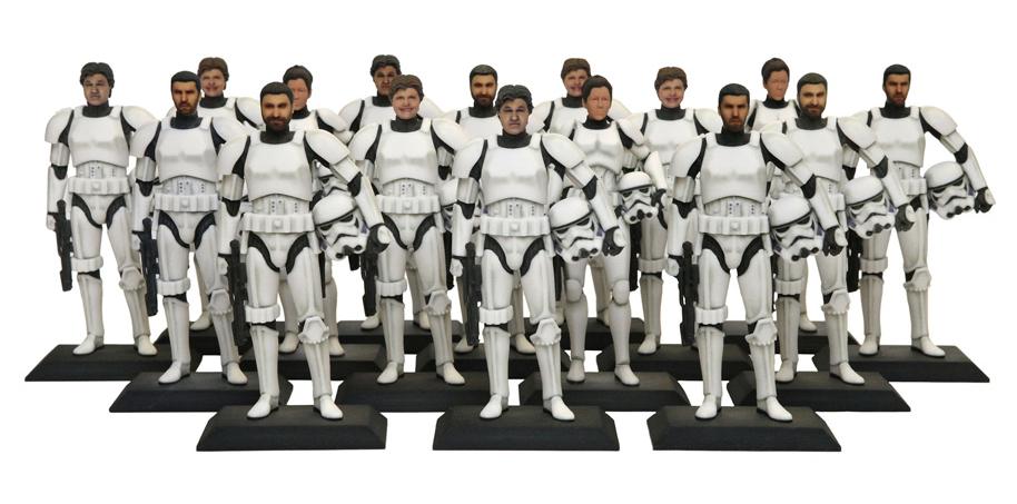 star wars 3-d printed figurines