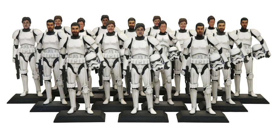 star wars 3-d printed figurines