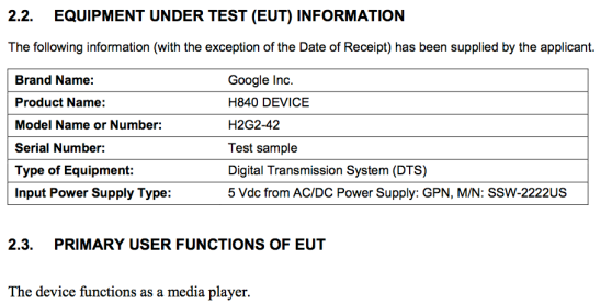 Google device H2G2-42 is in FCC testing