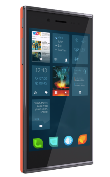 The Sailfish OS almost reminds you of Windows Phone tiles ...