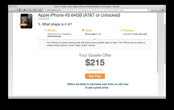 gazelle iPhone 4S offer