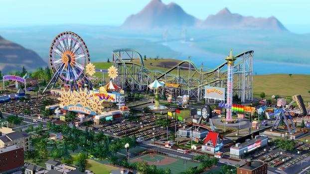 SimCity amusement parks