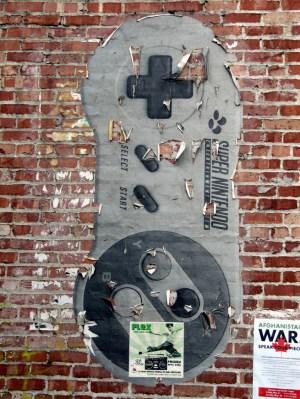 SNES controller graffiti