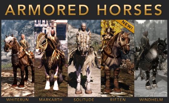 Skyrim: Armored Horses