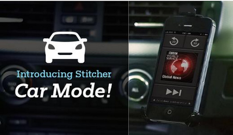 Stitcher car mode