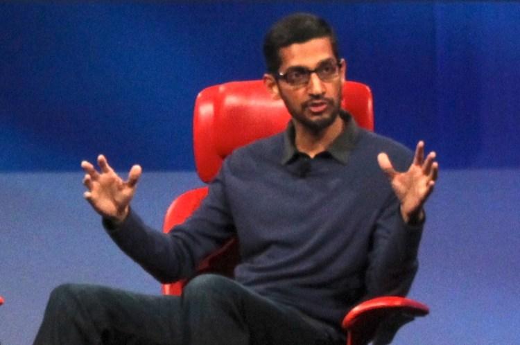 Sundar Pichai, the head of Android at Google