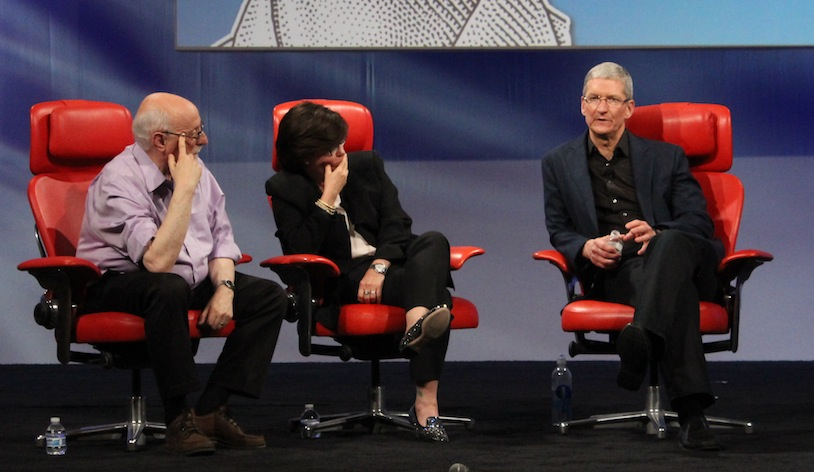 Tim Cook onstage at D11