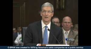 Tim Cook answers questions on Capitol Hill