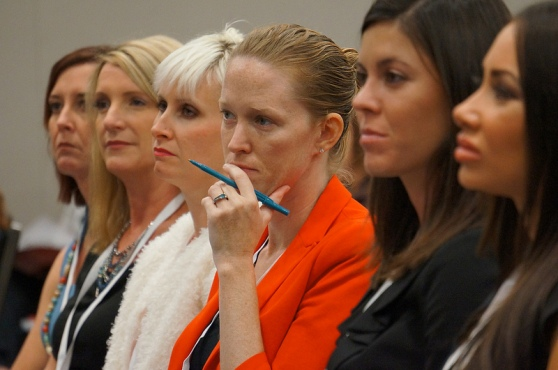 Women at a conference
