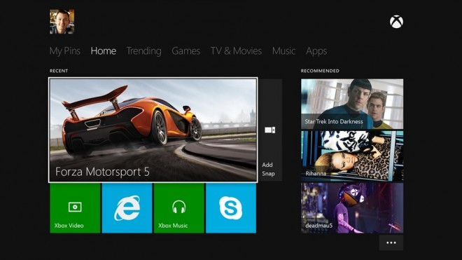 Xbox One home