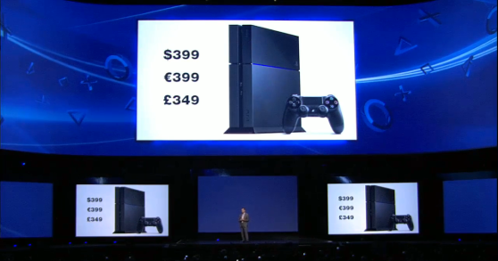 Sony PlayStation 4 pricing