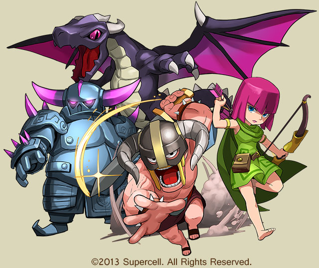 Clash of Clans/Puzzle & Dragons
