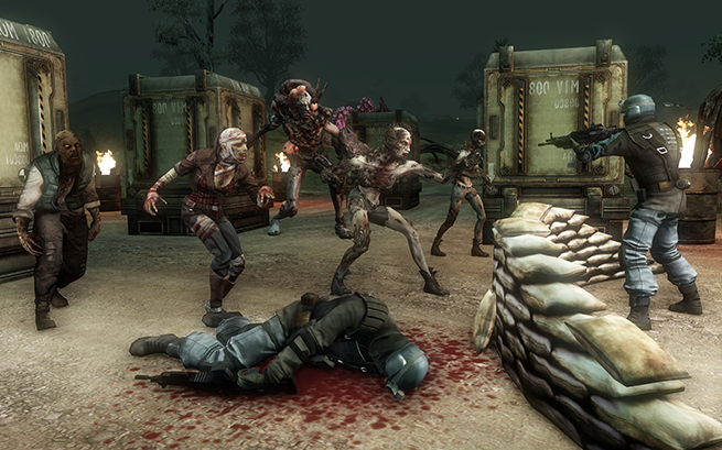 Trion World's online shooter Defiance in action.