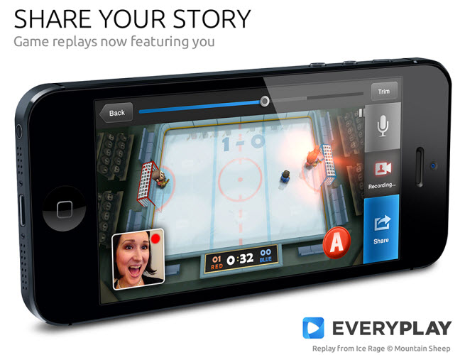Share your own face video as you narrate a mobile game playthrough.