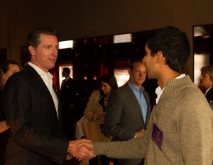 Gavin Newsom,Lieutenant Governor of California addressing British Airways Ungrounded participants (2)