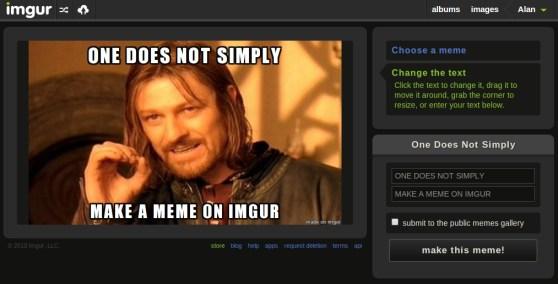 Imgur's Meme Generator tool