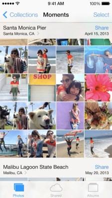 Photos in iOS 7