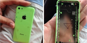 Leaked photo shows new cheaper iPhone 5S shell in 'radioactive vomit green' (rumor)