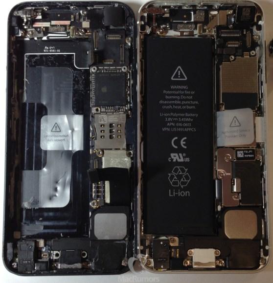 iPhone 5s (left) versus the iPhone 5 (right)