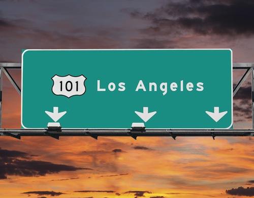 101 Freeway Los Angeles Sunrise Sky