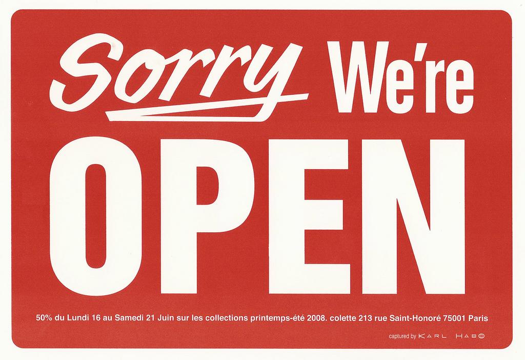 sorry, open