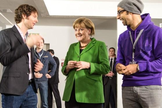 Matt Cohler, Angela Merkel, Ijad Madisch at ResearchGate