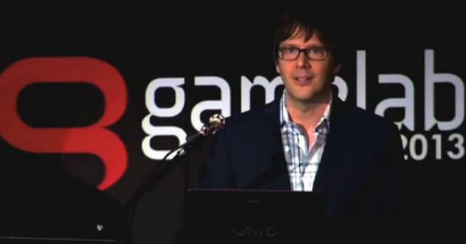 Mark Cerny gives a PS 4 speech in Barcelona.