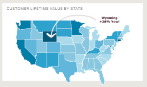 customer lifetime value by state