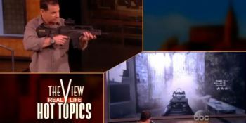 The world's most realistic gaming gun upsets the hosts of 'The View'