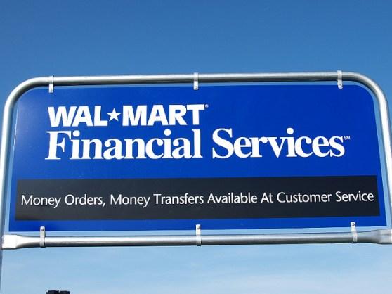 Walmart financial services sign